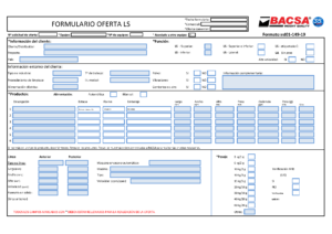 Formulario Pesaje y Etiquetaje